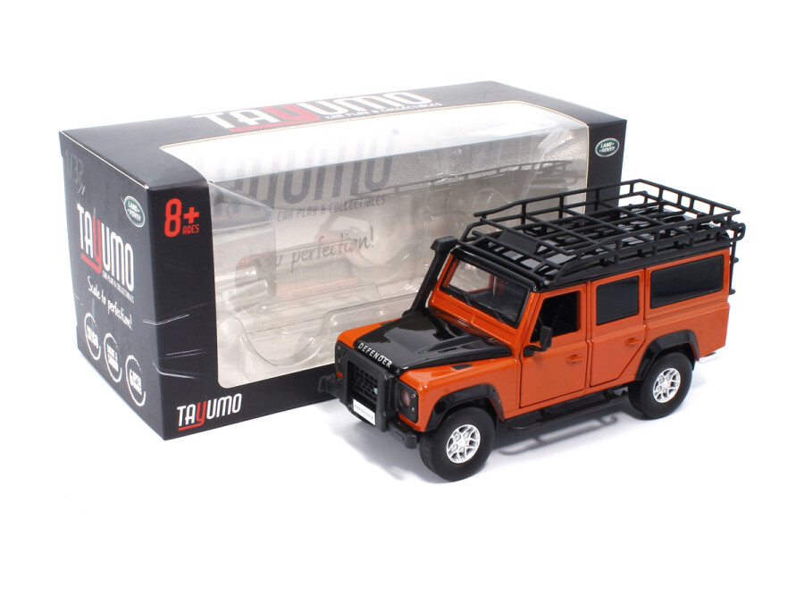 Light Sound Land Rover Defender 110  Dark Orange Tayumo 1:32 NEU Pullback